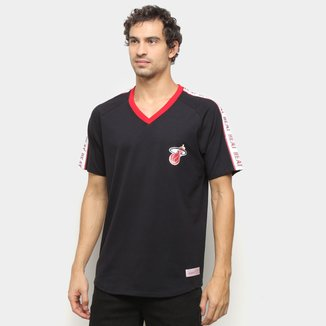 Camiseta Miami Heat Mitchell & Ness Especial Masculina