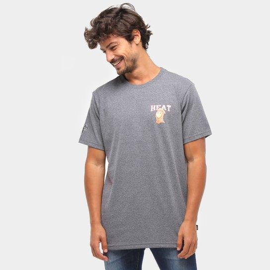 Camiseta Miami Heat NBA Masculina - Grafite