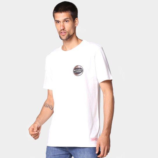 Camiseta Mitchell & Ness Retrô Masculina - Off White