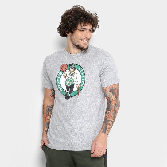 Camiseta NBA Boston Celtics Big Logo Masculina - Cinza