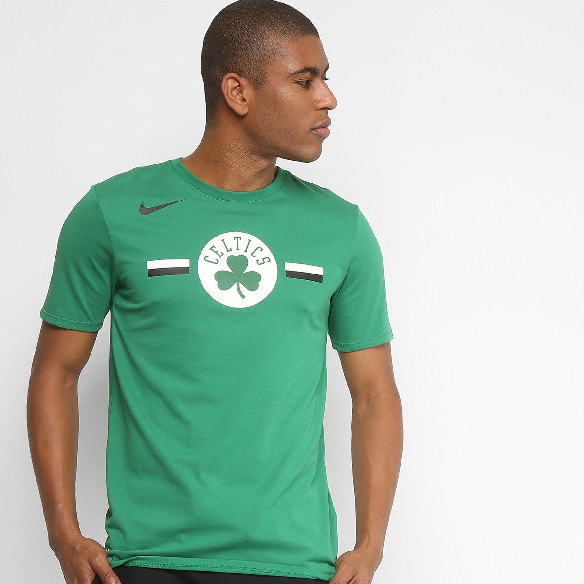 camiseta nba boston celtics nike dry fit logo masculina. Black Bedroom Furniture Sets. Home Design Ideas