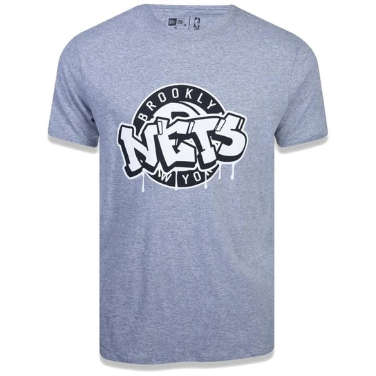 Camiseta NBA Brooklyn Nets Arte Grafite - Mescla