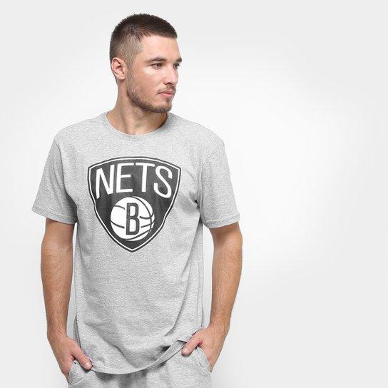 Camiseta NBA Brooklyn Nets Big Logo Masculina - Cinza