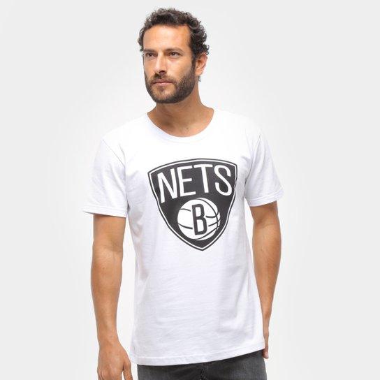 Camiseta NBA Brooklyn Nets Big Logo Masculina - Branco