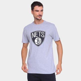 Camiseta NBA Brooklyn Nets New Era Logo Masculina