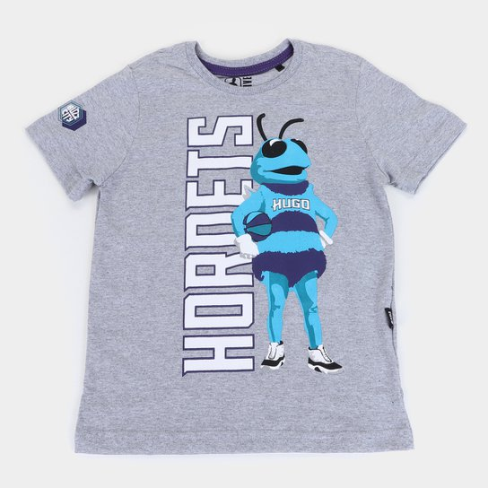 Camiseta NBA Charlotte Hornets Juvenil Masculina - Mescla
