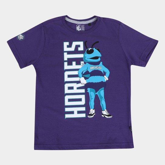 Camiseta NBA Charlotte Hornets Juvenil Masculina - Roxo