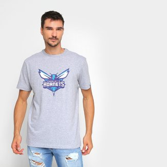 Camiseta NBA Charlotte Hornets New Era Logo Masculina