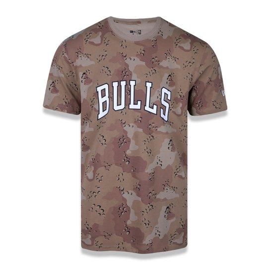 Camiseta NBA Chicago Bulls Desert Full Masculina - Marrom