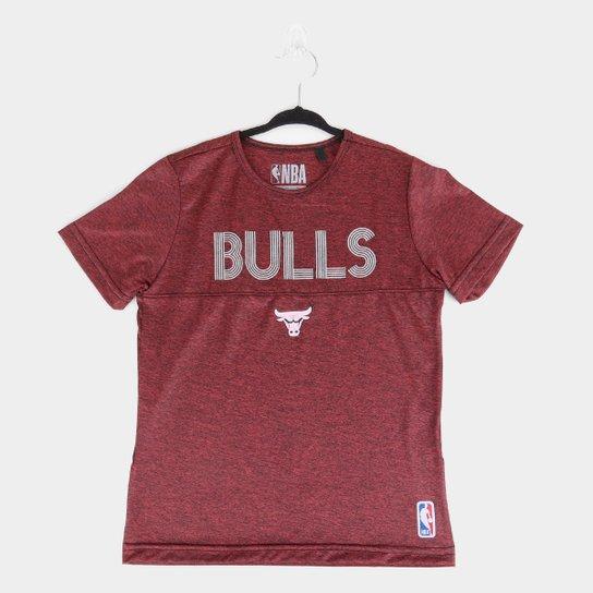 Camiseta NBA Chicago Bulls Esp Shine Masculina - Vermelho