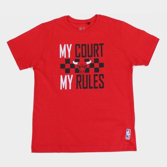 Camiseta NBA Chicago Bulls Juvenil Masculina - Vermelho
