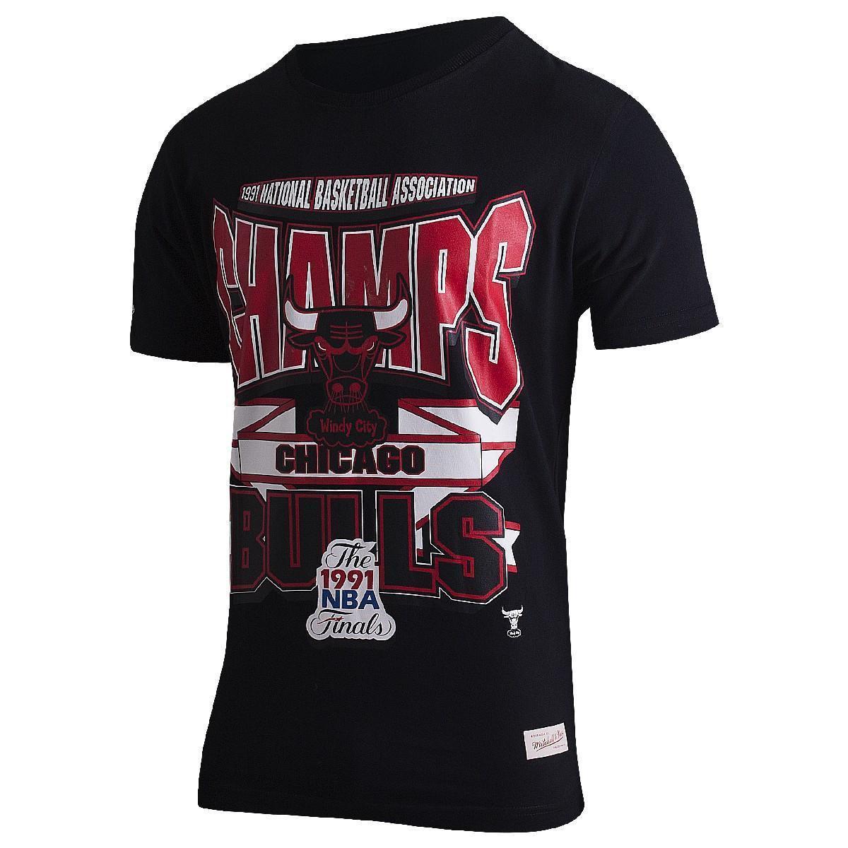 2975f800bdc Camiseta NBA Chicago Bulls Mitchell   Ness Sportman Crew Masculina - Compre  Agora