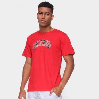Camiseta NBA Chicago Bulls New Era College Script Masculina