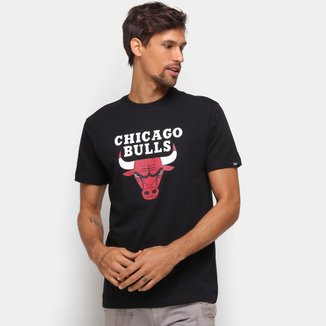 Camiseta NBA Chicago Bulls New Era Logo Masculina