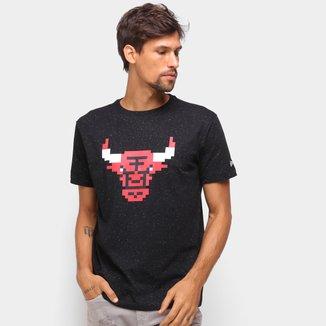 Camiseta NBA Chicago Bulls New Era Rave Space Pixels Masculina