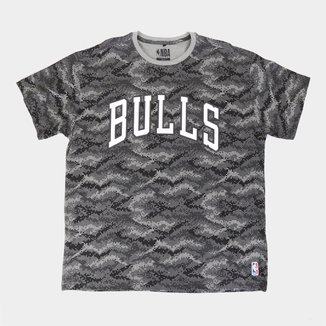 Camiseta NBA Chicago Bulls Pixel Plus Size Masculina
