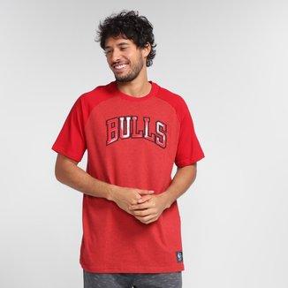 Camiseta NBA Chicago Bulls Raglan Masculina
