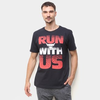 Camiseta NBA Chicago Bulls Run Whit Us Masculina