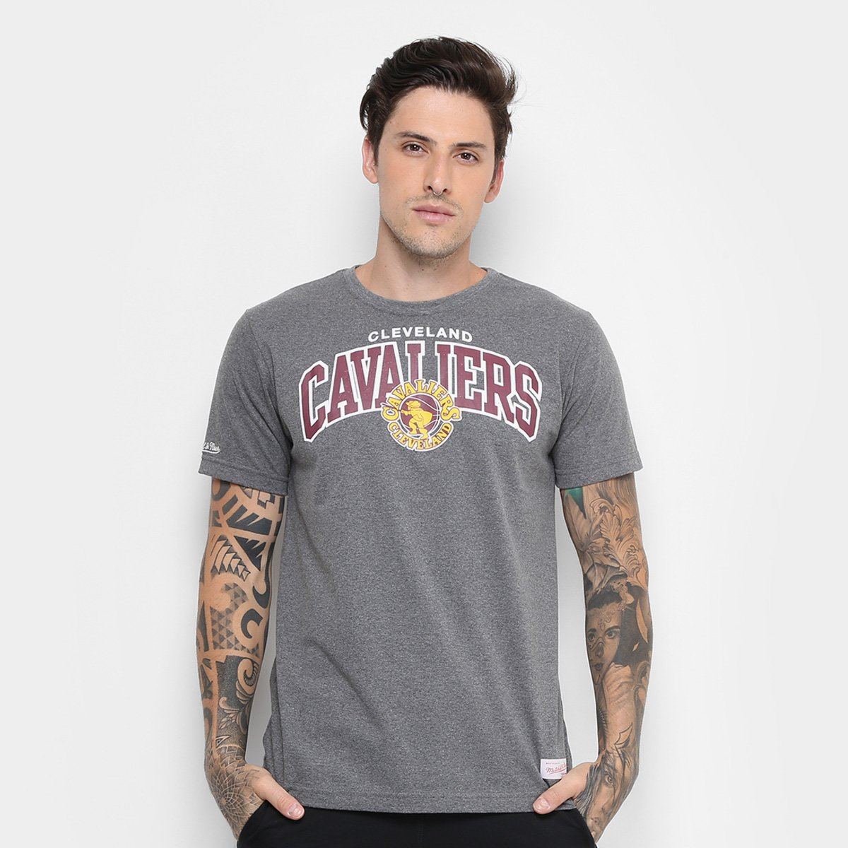 Camiseta NBA Cleveland Cavaliers Mitchell   Ness Team Masculina ... d180aa6f6f757