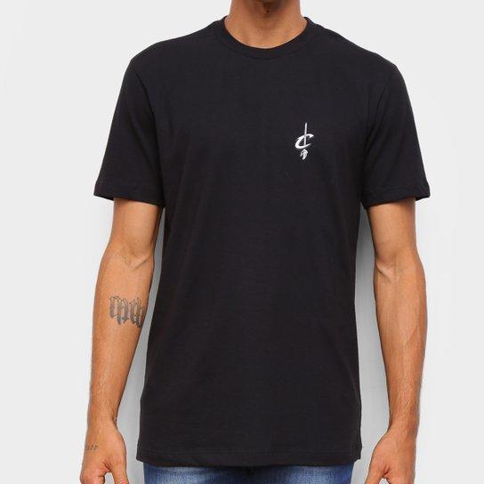 Camiseta NBA Cleveland Cavaliers New Era Black Pack Logo Masculina - Preto