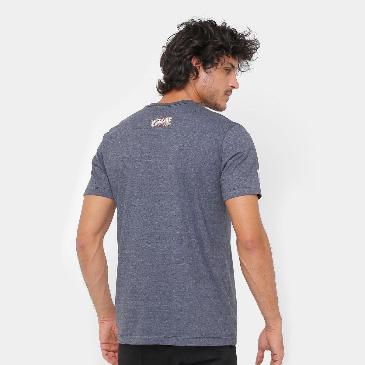 Camiseta NBA Cleveland Cavaliers New Era Masculina - Chumbo - Compre ... 83712e8d5c0dc