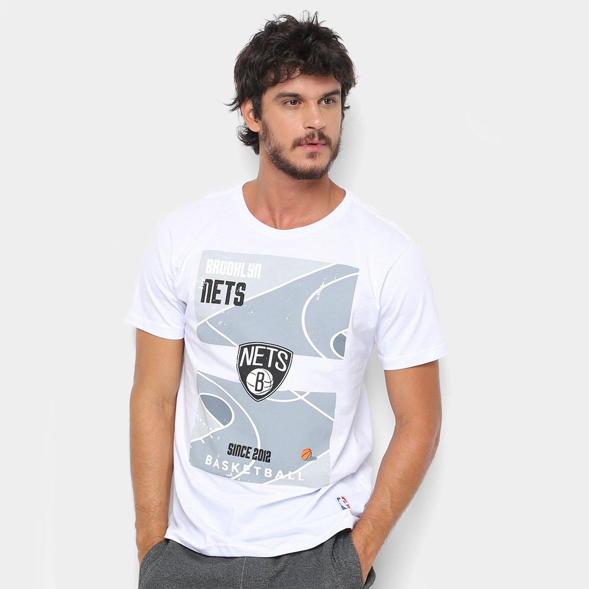 5e8dabe66 Camiseta NBA Court Brooklyn Nets Masculina - Branco - Compre Agora ...