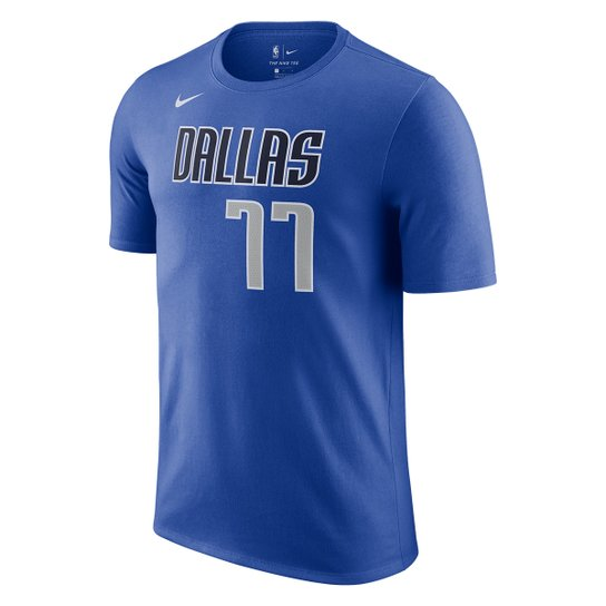 Camiseta NBA Dallas Mavericks Nike Luka Doncic Masculina - Azul Royal