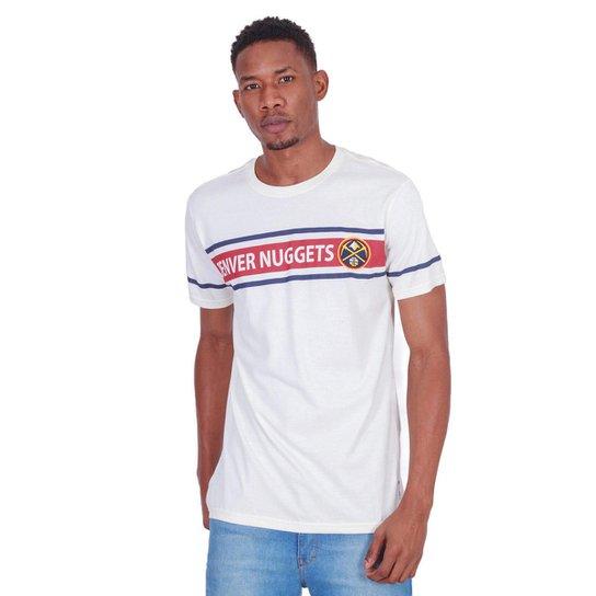Camiseta NBA Denver Nuggets Masculina - Off White
