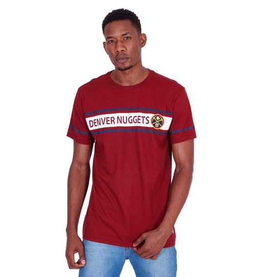 Camiseta NBA Denver Nuggets Masculina - Vinho