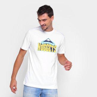 Camiseta NBA Denver Nuggets New Era Logo Masculina
