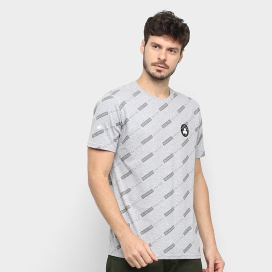 Camiseta NBA Estampada Celtics Masculina - Cinza
