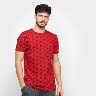 Camiseta NBA Full Print Mini Logo Masculina