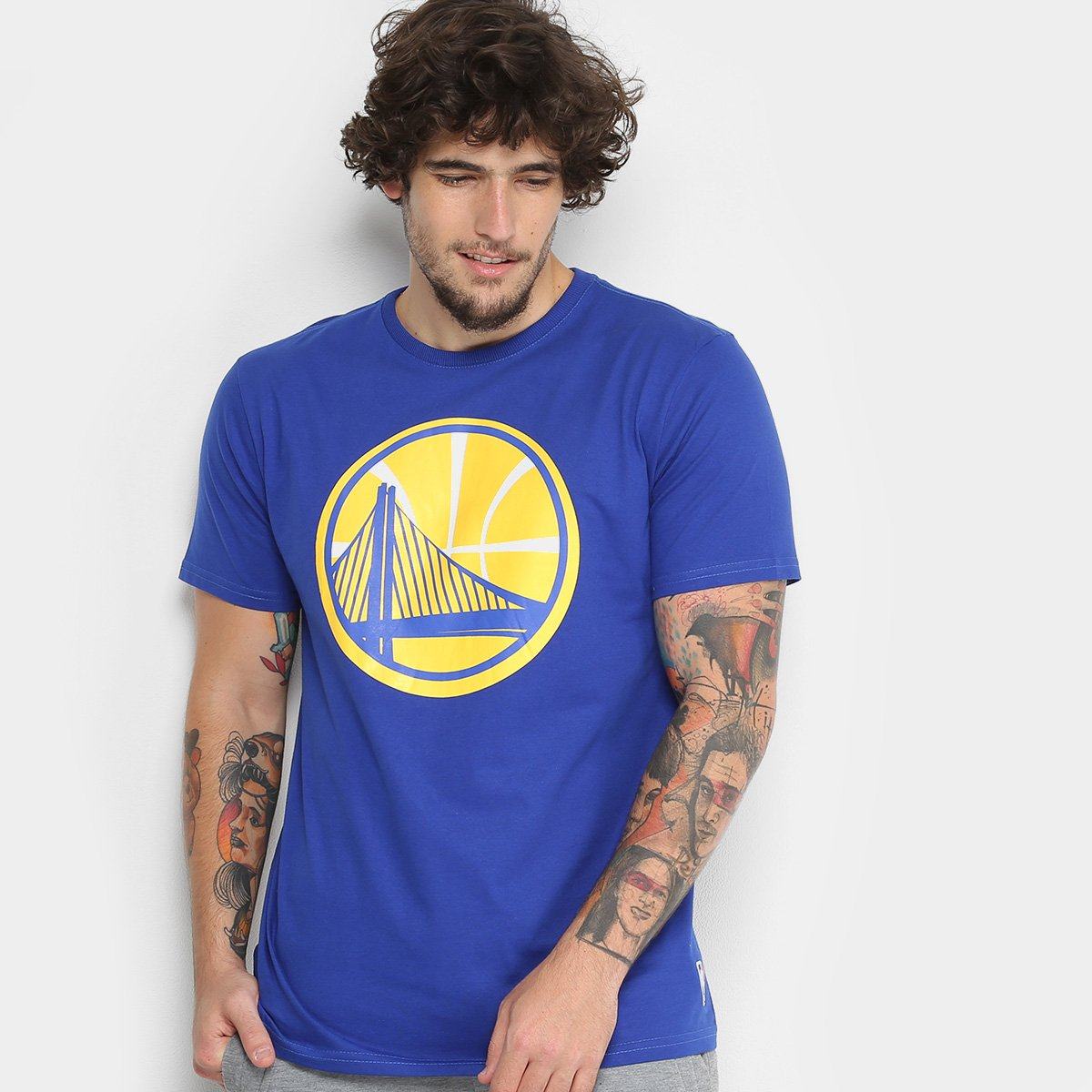 3095ba85c Camiseta NBA Golden State Warriors Big Logo Masculina - Compre Agora ...
