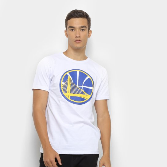 Camiseta NBA Golden State Warriors Big Logo Masculina - Branco