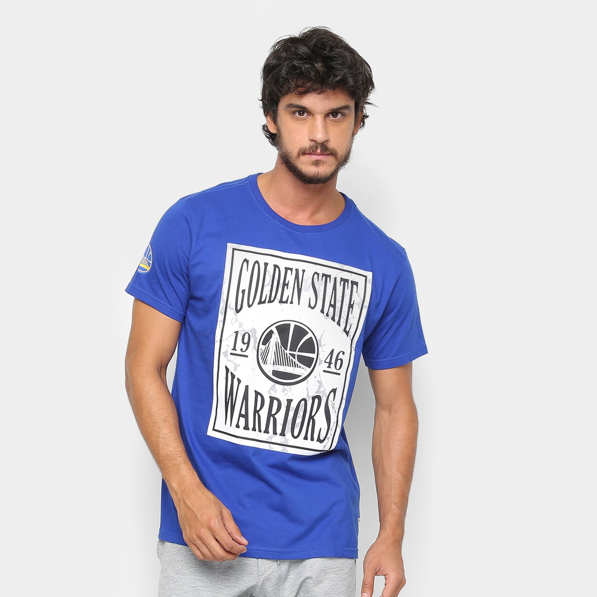 Camiseta NBA Golden State Warriors EST Ticket Masculina - Azul Royal ... 144834d1941