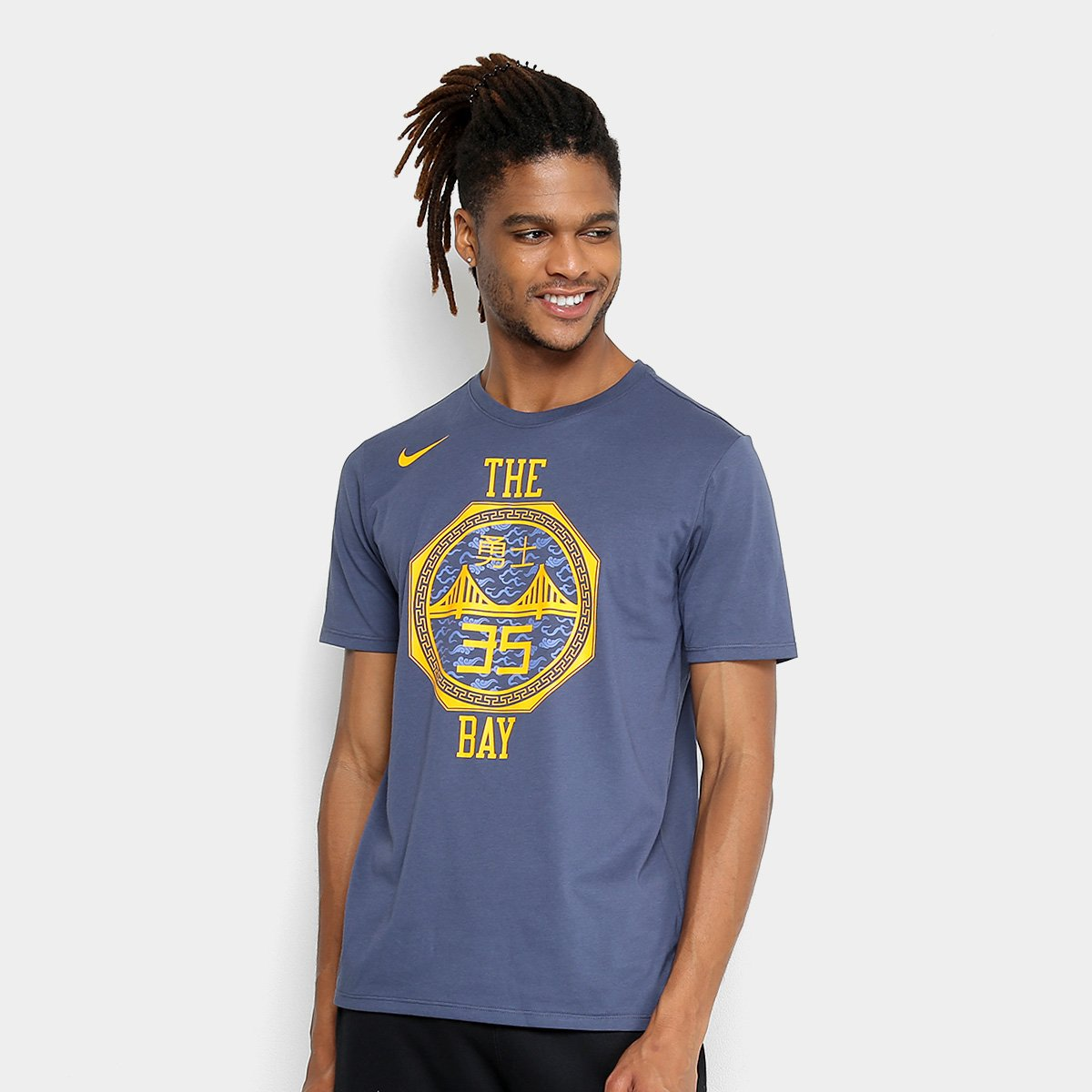 Camiseta NBA Golden State Warriors Kevin Durant Nike City Edition Masculina  ... 6d77f9ac8666f