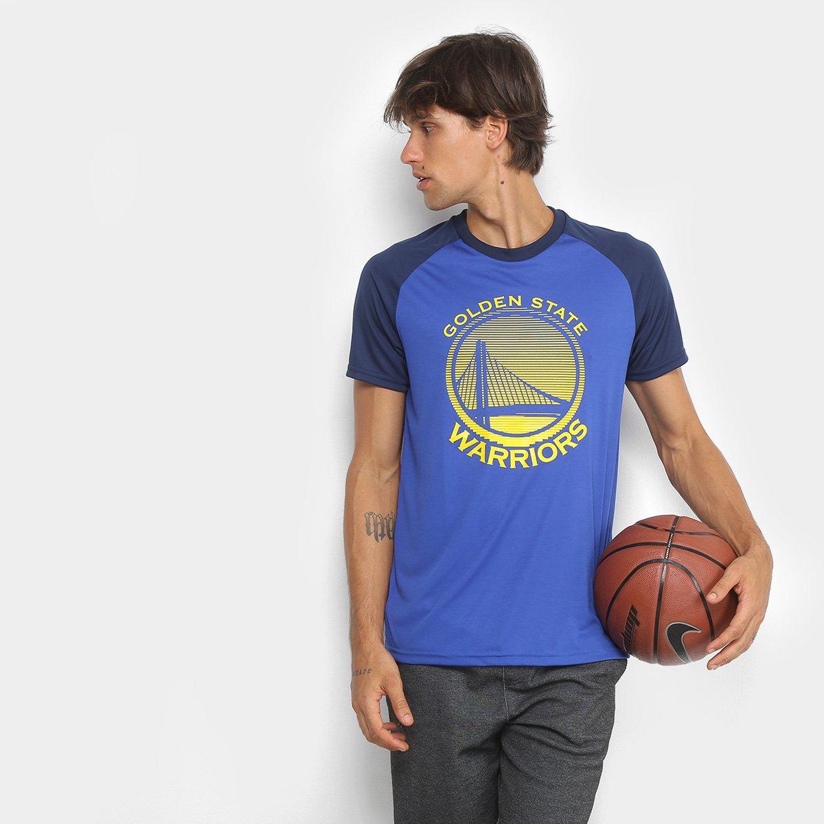 Camiseta NBA Golden State Warriors Masculina - Azul Royal - Compre ... 82f3836c3d7