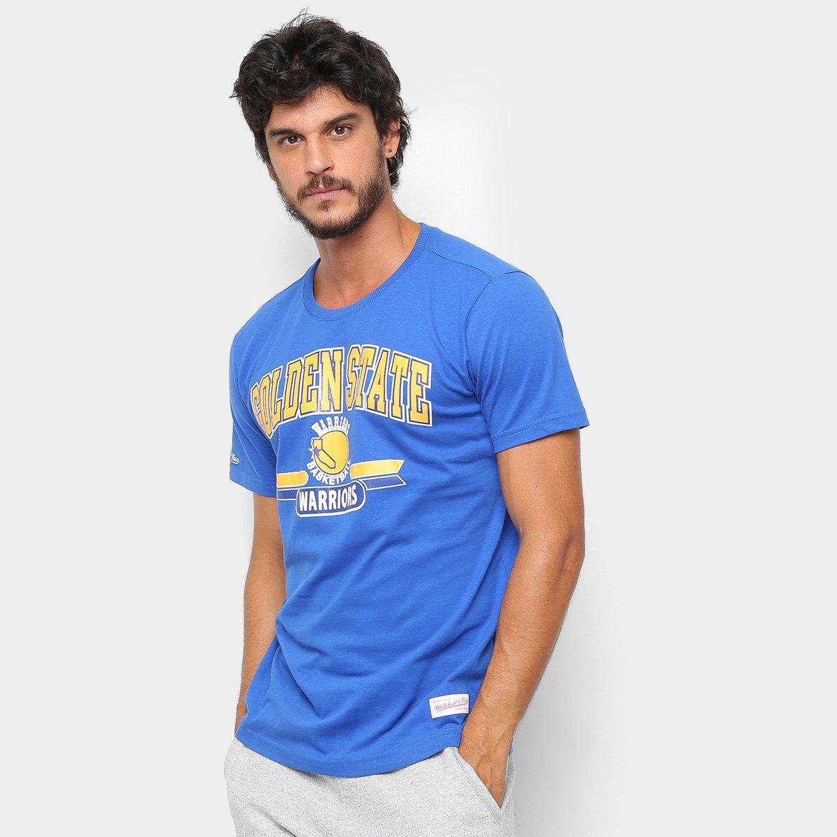 Camiseta NBA Golden State Warriors Mitchell   Ness 3 Pontos Masculina ... f37a2ad27f7