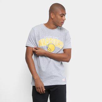 Camiseta NBA Golden State Warriors Mitchell & Ness Arch Masculina