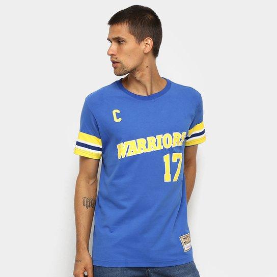 Camiseta NBA Golden State Warriors nº 17 Chris Mullin Mitchell & Ness Masculina - Azul