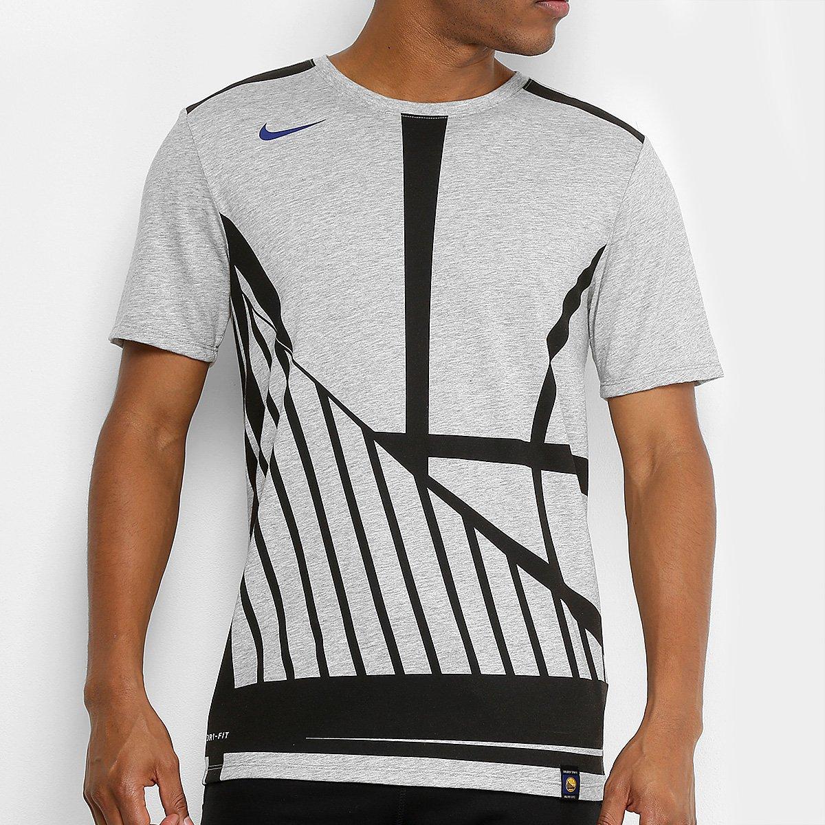 Camiseta NBA Golden State Warriors Nike EXP Logo Masculina - Compre ... 4f99cbb1ab4bb