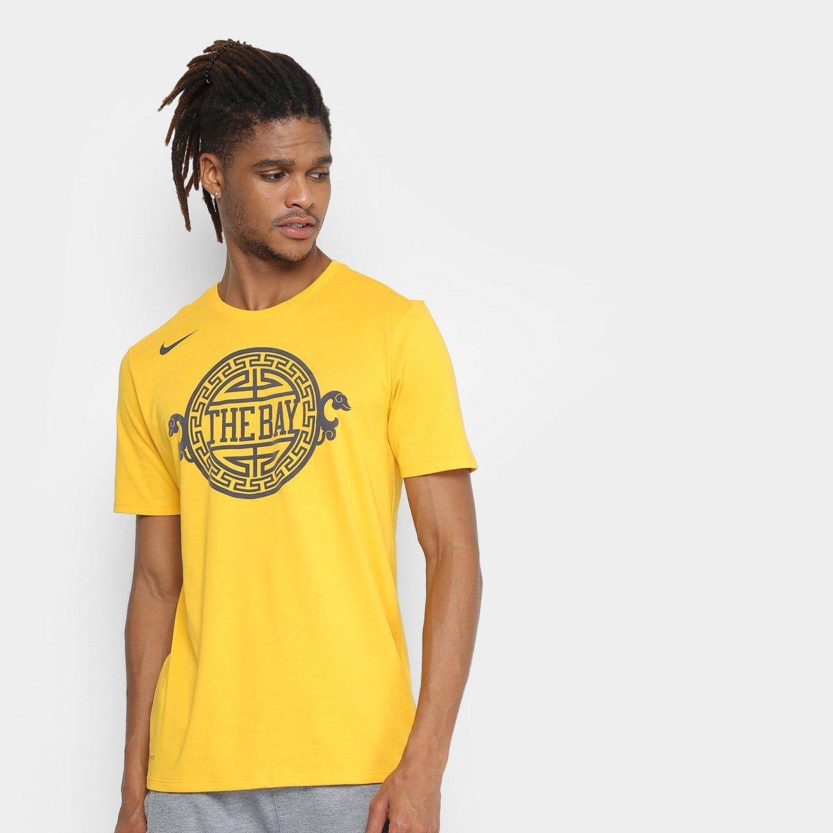 Camiseta NBA Golden State Warriors Nike Masculina - Dourado - Compre ... b41fe839b251f