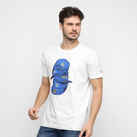 Camiseta NBA Golden State Warriors Under Dance Cap Masculina - Cinza Claro