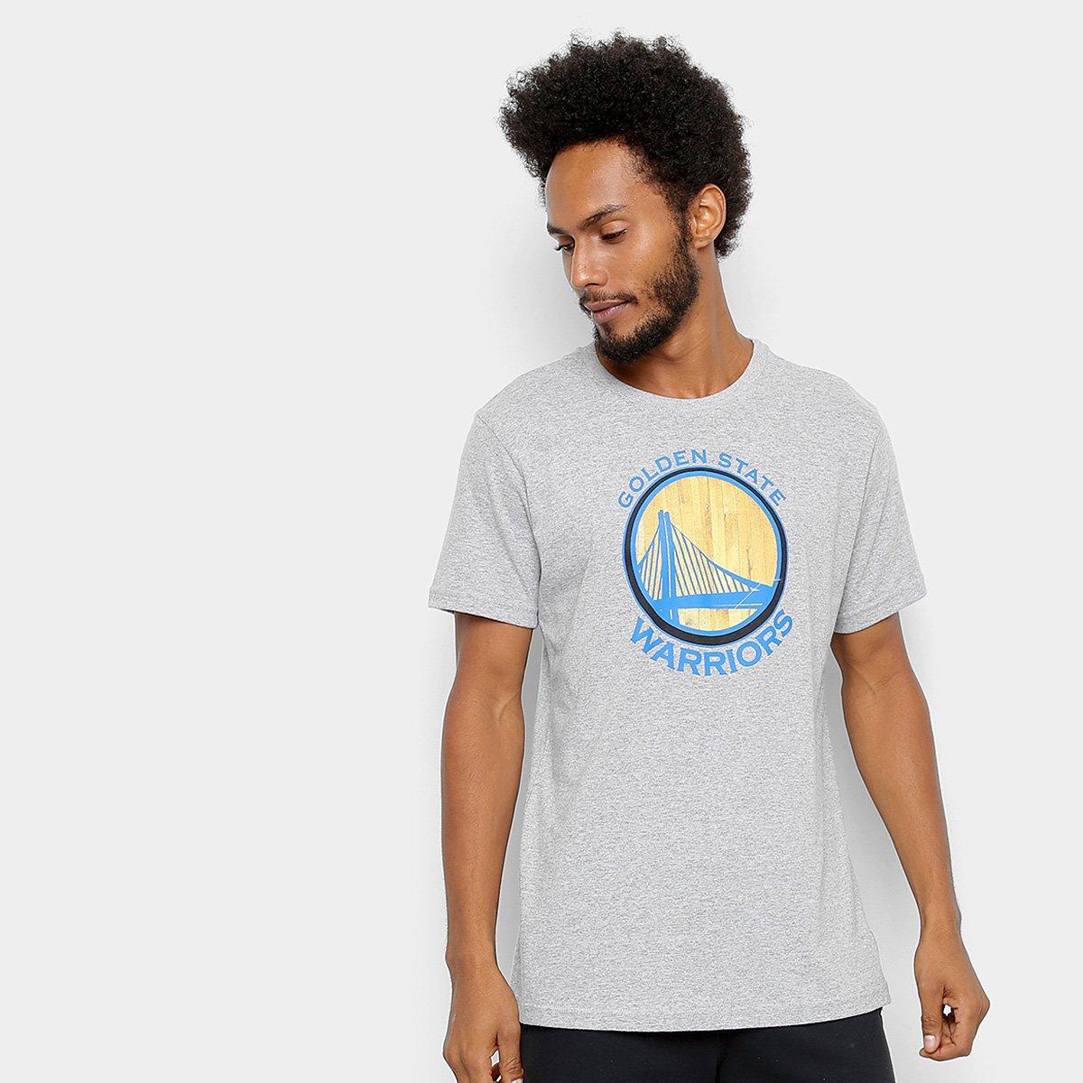 809c6d59c Camiseta NBA Golden State Warriors Wool Court Masculina - Cinza - Compre  Agora