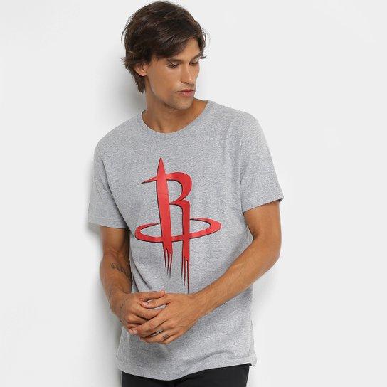 Camiseta NBA Houston Rockets Big Logo Masculina - Cinza