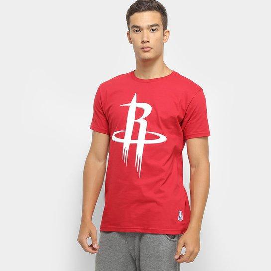 Camiseta NBA Houston Rockets Big Logo Masculina - Vermelho
