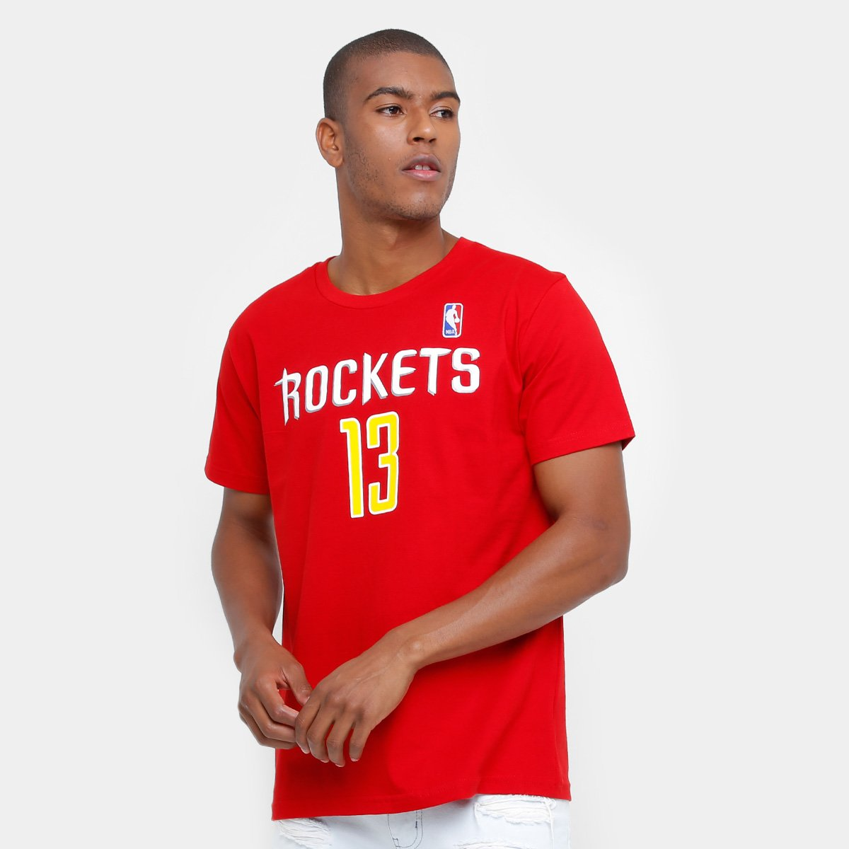 7cd6b9cf2 Camiseta NBA Houston Rockets Harden 13 Masculina - Compre Agora ...
