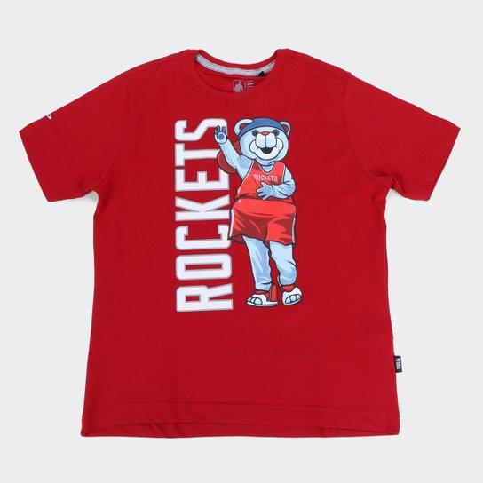 Camiseta NBA Houston Rockets Juvenil Masculina - Vermelho