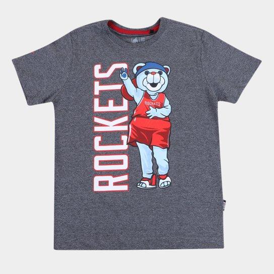 Camiseta NBA Houston Rockets Juvenil Masculina - Grafite