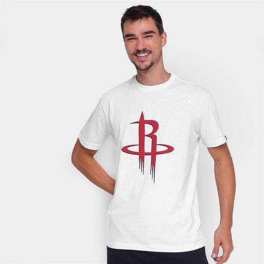 Camiseta NBA Houston Rockets New Era Logo Masculina - Branco